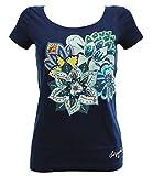 Desigual ACHLYS - Camicia para Donna, Blu (Blau (SURF THE WEB 5167)), M