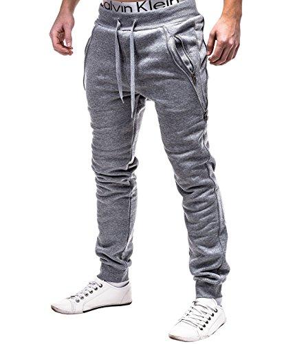 BetterStylz Luka Jogginghose Regular Fit Style Sweatpants Jogger Fitness Trainingshose Grau (M)