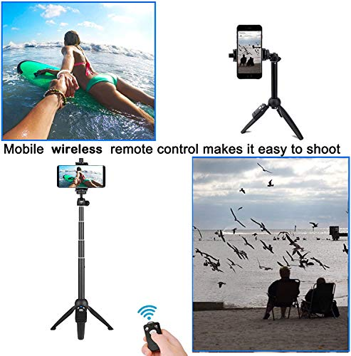 Selfie Stick, 40 inch Extendable Selfie Stick Tripod,Phone Tripod with Wireless Remote Shutter Compatible with iPhone 13 12 11 pro Xs Max Xr X 8Plus 7, Android, Samsung Galaxy S20 S10,Gopro and More