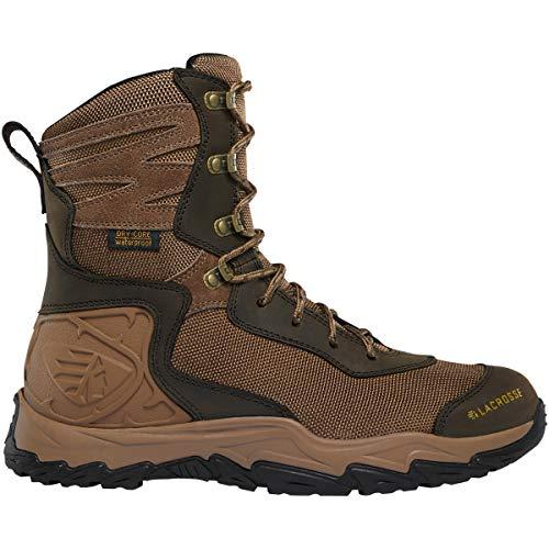 LaCrosse Men's 513360 Windrose 8' Waterproof Hunting Boot, Brown - 10.5 M