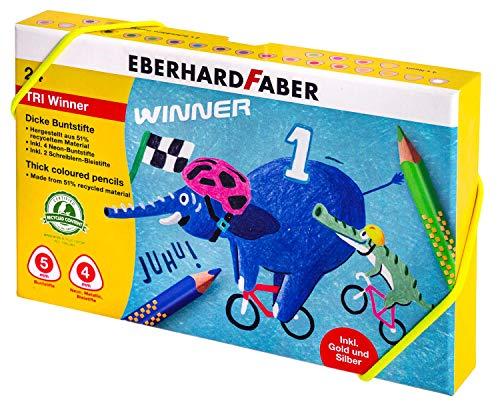 Eberhard Faber 518424 - Buntstift TRI Winner, 24 Stück in Box aus festem Karton