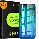 [3-Pack] KOSPH for Redmi Note 8 Pro Tempered Glass Screen Protector, 9H 2.5D Arc Edge Glass Film with Oleophobic Coating, Anti Scratch/Impact Absorption/High Clarity (Partial Coverage, Clear)
