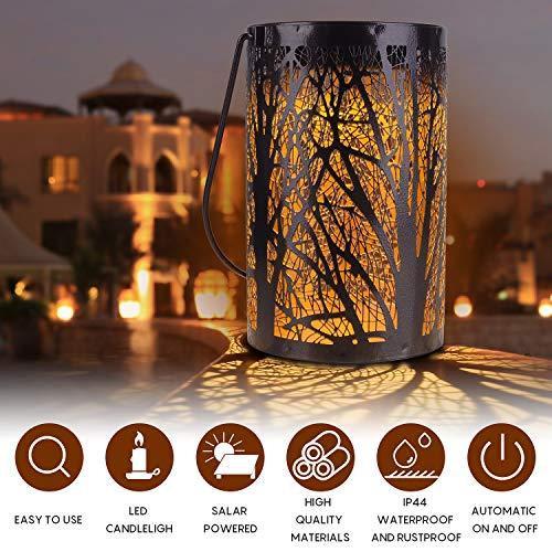Herefun Solar Laterne, LED Wasserdicht Laterne Draußen Solar Laterne Gartenlicht Outdoor Solarleuchten Garten Deko Solarlampen für Rasen, Hof, Gehweg, Weihnachten