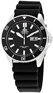 Orient RA-AA0010B Men's Kano Silicone Band Black Bezel Black Dial Automatic Dive Watch