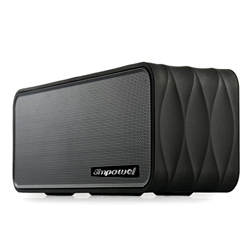 Simpowel V8 - 9W(4.5W X 2) Portable Speaker with FM-radio, Micro SD MP3 Player, NFC, LED Display and Removable 18650 Li-ion Battery (Black)