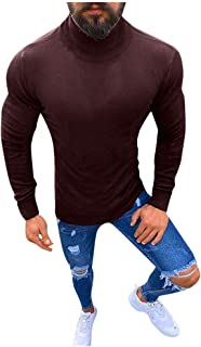 Alalaso Mens Basic Turtleneck Thermal Long Sleeve T-Shirt Sweatshirt Cozy Pullover Sweater Tops
