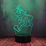 super mario run 3d led luce notturna usb touch telecomando bambino camera notte lampada 16 colori lampada da ufficio decoro regalo compleanno per bambini