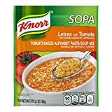 Knorr Sopa Pasta Tomato Soup Mix is ideal to enjoy alone or with chicken, beef, or vegetables Adds that authentic Knorr flavor Made with natural flavors Offers tons of flavor and versatility Easy and quick to prepare, just add to boiling water