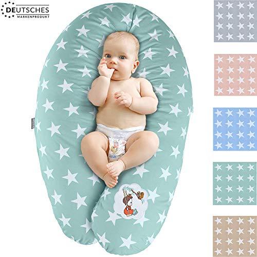 Sei Design Stillkissen Schwangerschaftskissen Lagerungskissen Ökotex zertifiziert| Füllung EPS-Mikroperlen. Bezug 100% Baumwolle, abnehmbar XXL 190 x 30 cm