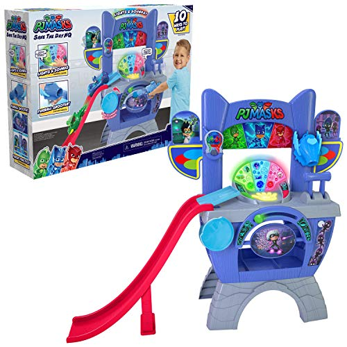 PJ Masks Saves the Day HQ 36-Inch Tall Interactive Playset with Lights and Sounds