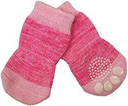ZEEZ Non-Slip Pet Sock Small (2.5 x 6cm), Pink
