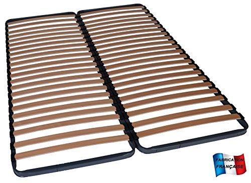 MEUBLEPRO Sommier à Lattes 2x70x190 (140x190)