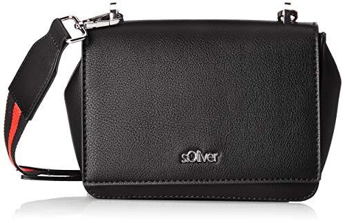 s.Oliver (Bags Damen City Bag Umhängetasche, Schwarz (Black), 8x14x17 cm