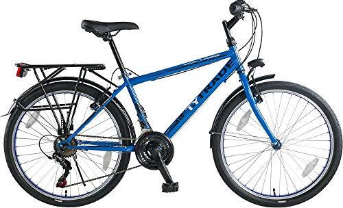 T 24 Zoll Kinder City Fahrrad Kinderfahrrad Cityfahrrad Cityrad Citybike Bike Rad Jugendfahrrad 21 Shimano Gang Voltage Man BLAU TYT19-044