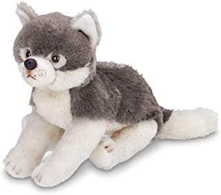 Bearington Lil' Nanook Small Plush Stuffed Animal Grey Wolf, 7 inches