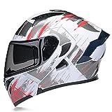 Modular Casco Moto Integral Modulares Casco Moto con Doble Visera Casco de Motocicleta ECE Homologado Cascos de motocross para Adultos Hombres Mujeres Cuatro Estaciones 3,M