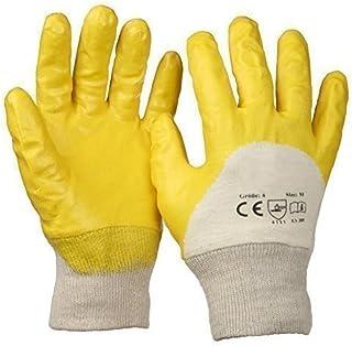 SBS ® Guantes de nitrilo Talla 10 amarillo con Puño tejido