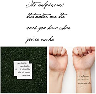 Tattify Inspriring Quote Temporary Tattoo - Realist (Set of 2)