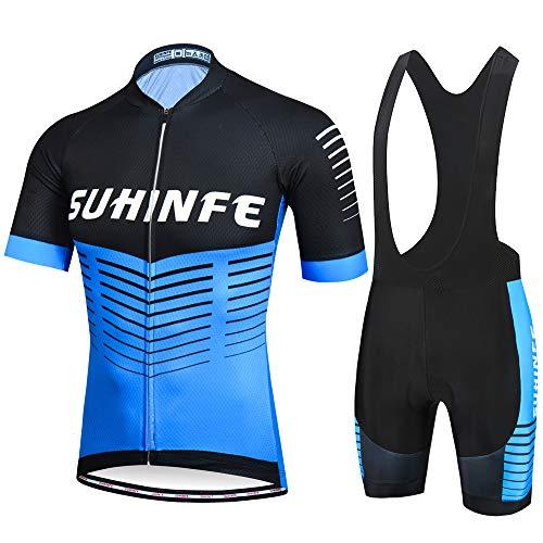 SUHINFE Ciclismo Maillot y Culotte Pantalones Acolchado 5D para Verano Deportes al...
