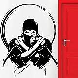 wZUN Etiqueta engomada de la Pared del samurái japonés Ninja japonés y Espada Vinilo Pared calcomanía Sala de Estar decoración del hogar 63X48cm