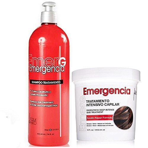 Toque Magico Emergencia Set Deep Intensive Hair Treatment & Shampoo 16oz