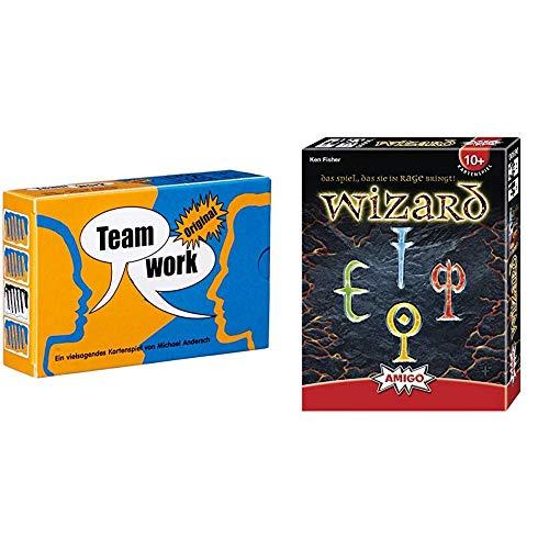HCM Kinzel Adlung Spiele 46148 - Teamwork Original & Amigo 6900 - Wizard, Kartenspiel