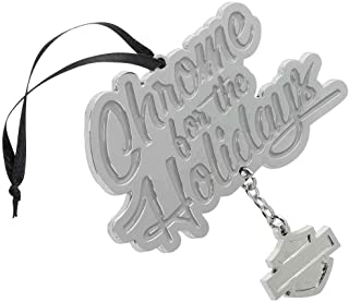 HARLEY-DAVIDSON Winter Chrome for The Holidays Pewter Ornament HDX-99129