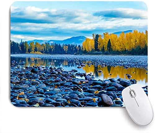 Mauspad, River Rocks Rock Farbe Szene Reflexion Morgendämmerung auf Flathead Natur Landschaft Tal Bunte Montana