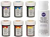 Kit di 6 coloranti alimentari Wilton nell'edizione Arcobaleno + EXTRA: Bianco