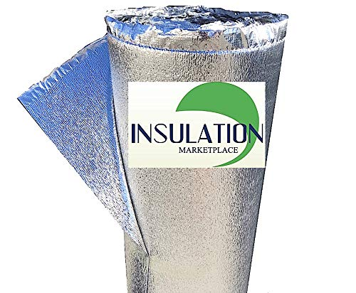 SmartSHIELD -3mm 48'x10Ft Reflective Insulation Roll, Foam Core Radiant Barrier, Thermal Foil Insulation, Commercial Grade