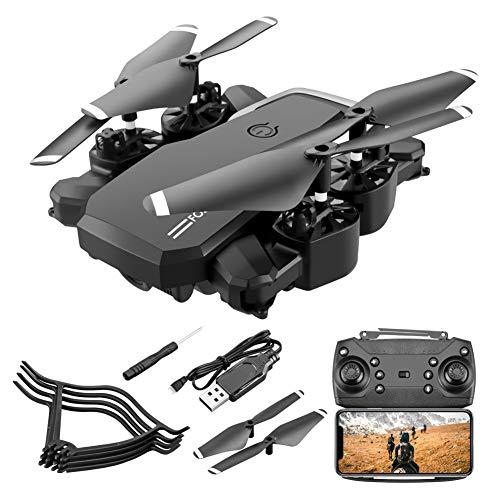 LYHLYH 4K Drone, des Avions contrôle des Avions à Distance HD Quatre Axes aériens Batterie Longue durée pour Les débutants 15 Minutes du Temps Pliable Vol Allow Gesture Photo,Noir