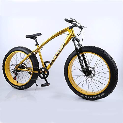 QISKAII 4.0 fat bike 24 and 26inch mountain bike 7 Variable speed Snow bicycle Shock absorbing beach bike big tire mountain bicycle