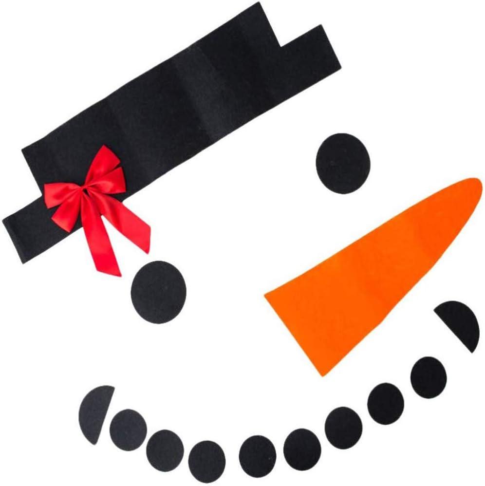 BinaryABC Christmas Snowman DIY Decorations,Christmas Garage Door Decorations,Snowman Wall Decor,16 Pcs