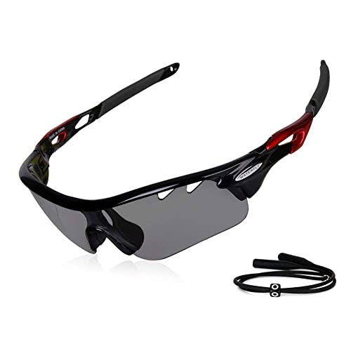 7b84ccbfc8 GARDOM Cycling Glasses Photochromic Sunglasses for Men Women UV Protection  Lens Cycling Glasses with Straps for