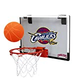NBA Cleveland Cavaliers Game On Indoor Basketball Hoop & Ball Set, Large, Maroon