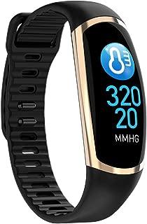 GLJJQMY Smart Bracelet Fitness Tracker Waterproof IP68 Sleep Monitor Calorie Counter Watch Child Lady Men's Smart Bracelet Smart Bracelet (Color : Black)