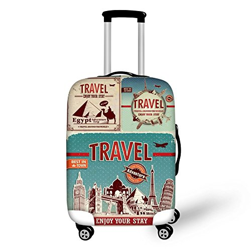 Bigcardesigns Cool Travel Luggage Protective Covers for 22'-25' Suitcase Elastic