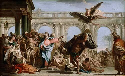 Giovanni Battista Tiepolo Giclee Kunstdruckpapier Kunstdruck Kunstwerke Gemälde Reproduktion Poster Drucken(Italian Active Venice Würzburg And Madrid Das Wunder des Pools von Bethesda) #XZZ