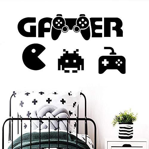 Erstaunliche Pacman Gamer Wandkunst Aufkleber moderne Wandtattoos Vinyls Jungen Zimmer Spiel Raumdekoration Tapete Spiel Wandbilder 58 cm x 107 cm