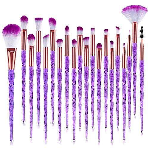 Ensemble de pinceaux de maquillage pour les yeux multifonctionnels, 20pcs maquillage fondation sourcils eyeliner blush pinceaux correcteur cosmétique ensemble de pinceaux fard à paupières correcteur