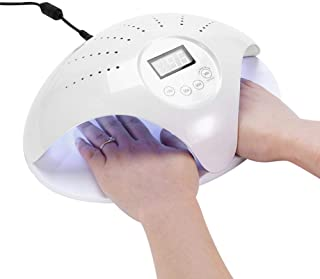 48W Lámpara LED UV Uñas Profesional Sensor Automático Incorporado 4 Tipos De Controles De Tiempo Esmaltes De Gel/Conveniente/Regalo/Viaje/ Salón