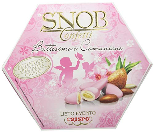 Crispo Snob Confetti Rosa, Battesimo e Comunione, 1 confezione da 500 grammi