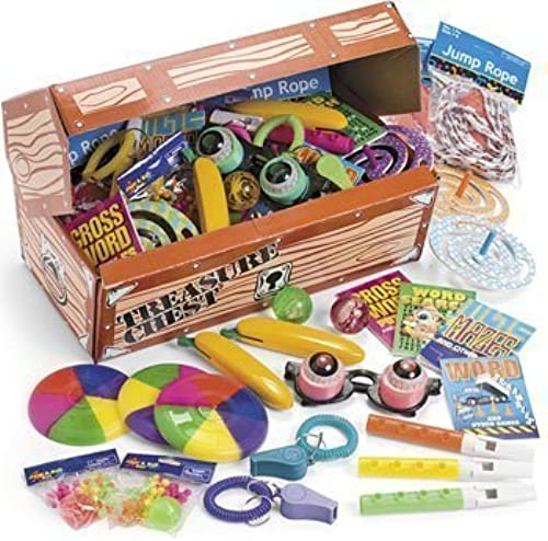 Deluxe Treasure Chest Toy Assortment (50 pc) by Natorytian