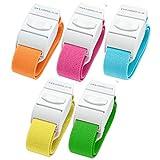 Paquete de 5 torniquetes médicos de liberación rápida de diferentes colores...