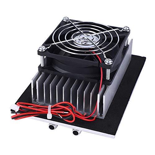 Refrigerador de Semiconductores de 12V, Dispositivo Enfriador de Placa FríA Del Sistema de Enfriamiento con Bloque GuíA de Gran Superficie Kit de Cabezal Doble TermoeléCtrico MáS FríO
