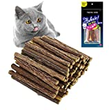 QIMMU Palitos de Catnip para Gatos, Juguete para morder para Gatos 100% orgánico Naturales Matatabi Sticks Catnip Dental Treats 30PCS
