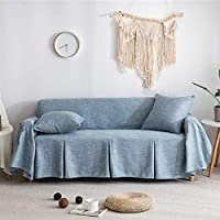 Zairmb 1 Piece マルチカバー 滑り止め カウチカバー アームチェアカバー 通用的 防水 ウェアラブル ソファ保護カバー For 1 2 3 4 Cushion Couch-200x360cm(79x142inch) G