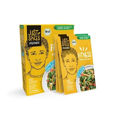 Just Spices Bio Fitness Dressing Mix I Einfach, Lecker, Schnell I 100% Natürliche Zutaten & 100% BIO I 30 Stück Vorteilspack