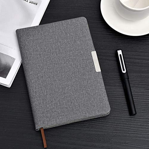 Blocs de Notas A5 Cuaderno Diario de la Personalidad del Estudiante Bloc de Notas de Negocios Oficina de Tela patrón de Cuero Gris B5 Notebook (Color : Black, Size : B5)