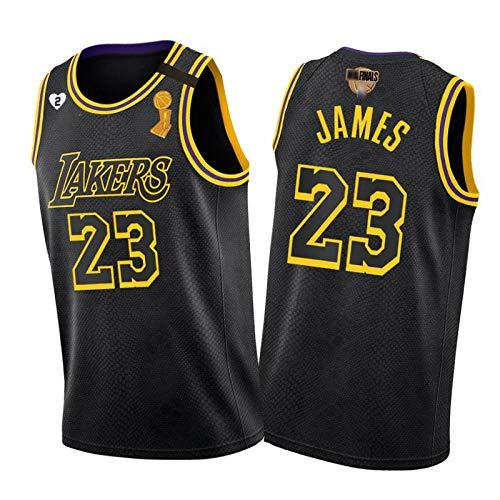 CLKI # 23 Lakers Lebron James 2020 Finales Versión Campeonato Camiseta Basketball Jersey, Secado rápido para Hombre Transpirable Sudadera cómoda XL